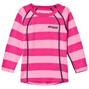Bergans Unisex Jumpers and knitwear Pink Fjellrapp Striped Shirt Lollipop