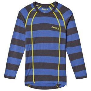 Bergans Unisex Jumpers and knitwear Blue Fjellrapp Striped Shirt Warm Cobalt/Dark Grey