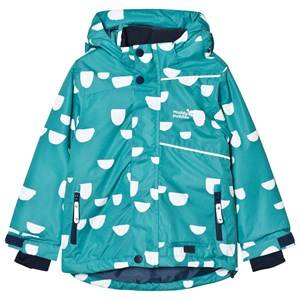 Muddy Puddles Unisex Coats and jackets Green Pale Green and White Hoof Blizzard Ski Jacket