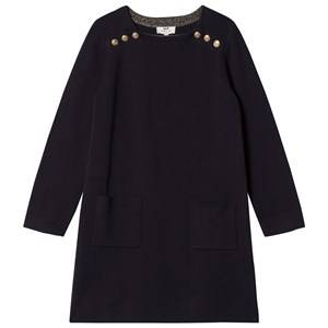 Image of Cyrillus Girls Dresses Navy Navy Long Sleeve Pocket Dress