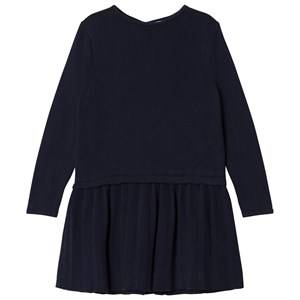 Image of Cyrillus Girls Dresses Navy Navy Long Sleeve Dress