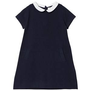 Image of Cyrillus Girls Dresses Navy Navy Collar Short Sleeve Dress