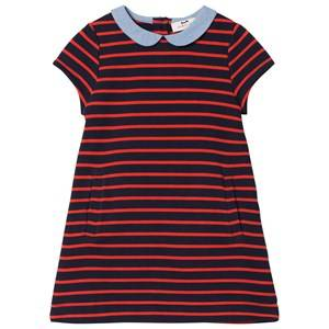 Image of Cyrillus Girls Dresses Navy Navy Stripe Short Sleeve Dress
