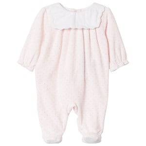 Image of Cyrillus Girls All in ones Pink Pink with White Bib Detail Babygrow
