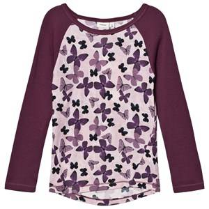 Name it Unisex Jumpers and knitwear Purple Tröja, Merinoull, Willitobu, NOOS,