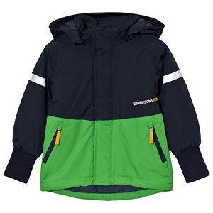 Didriksons Unisex Coats and jackets Green Härje Kid´s Jacket Kryptonite