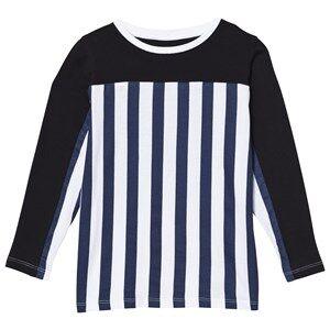 The BRAND Unisex Private Label Tops Blue Stripe LS Tee Blue/Stripe Black