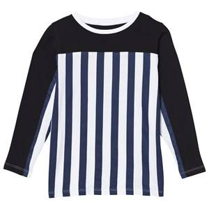The BRAND Unisex Private Label Tops Blue Stripe LS Tee Blue/Stripe Black