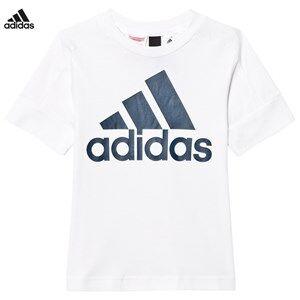 adidas Performance Girls Tops White White ID Logo Tee