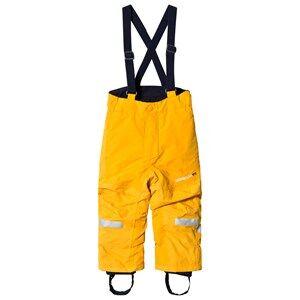 Didriksons Unisex Bottoms Yellow Idre Kids Pants      Mandarine