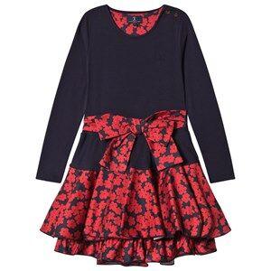 Jessie & James Girls Dresses Navy Navy Poppies Print Bow Detail Dress