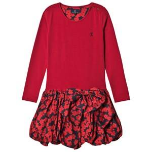 Image of Jessie & James Girls Dresses Red Red Floral Scallop Jersey Scallop Dress