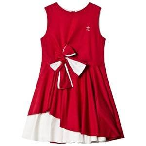 Image of Jessie & James Girls Dresses Red Red and White Audrey Dress with Bow Detail