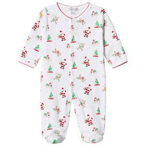Image of Kissy Kissy Unisex All in ones White White Christmas Print Jersey Babygrow