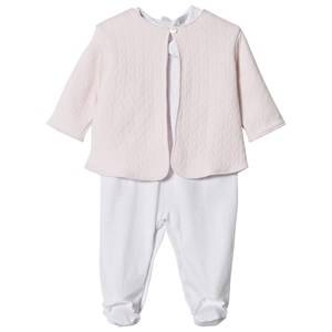 Kissy Kissy Girls Clothing sets Pink White Pink Dot Babygrow and Quilted Jacket Set