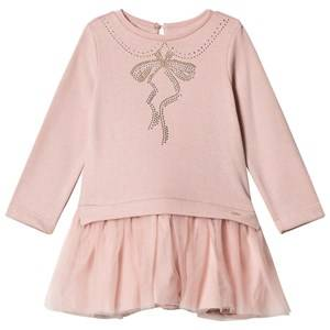 Image of Mayoral Girls Dresses Pink Pale Pink Diamante Tee and Tulle Skirt Dress