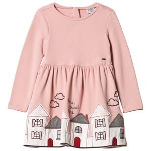Image of Mayoral Girls Dresses Pink Pink House Embroidered Dress
