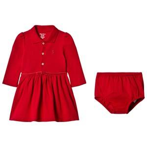 Image of Ralph Lauren Girls Dresses Red Red Long Sleeve Polo Dress