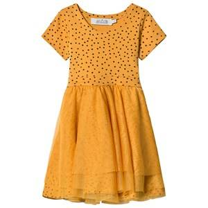Image of Anïve For The Minors Girls Dresses Yellow Dancing Dress Tiny Dots Yellow