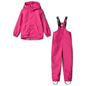 Ticket to heaven Unisex Clothing sets Pink Rain Set 2pcs Plain With Detachable Hood Total Eclipse Blue