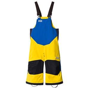 Image of Helly Hansen Boys Bottoms Yellow Yellow and Blue Kids Rider 2 Ins Ski Bib Pants