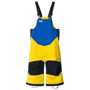 Image of Helly Hansen Boys Bottoms Yellow Yellow and Blue Kids Rider 2 Ins Ski Bib Pants