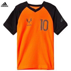 adidas Performance Boys Tops Orange Orange Messi Icon T-Shirt