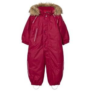 Reima Girls Coveralls Pink Reimatec® Aaren Down Snowsuit Dark Berry