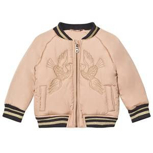 Hust&Claire; Boys Coats and jackets Beige Bird Bomber Jacket Cuban Sand