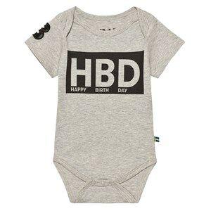 The BRAND HBD Baby Body Grey Mel 68/74 cm