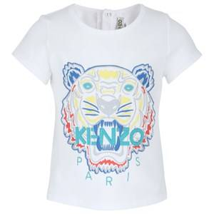 Image of Kenzo White Tiger Embroidered Tee 6 months