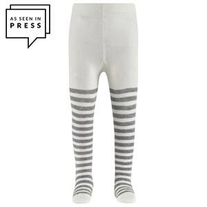 Falke Stripe Baby Tights Grey/White 74-80 (6-12 months)