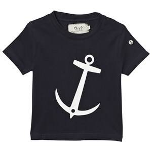 Emma och Malena T-shirt Anchor Navy 122/128 cm