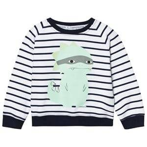 Scamp & Dude Chilled Fit Sweatshirt  Navy/White Breton Dino 2-3 years