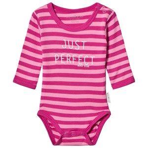 Nova Star Striped Baby Body Pink 50/56 cm