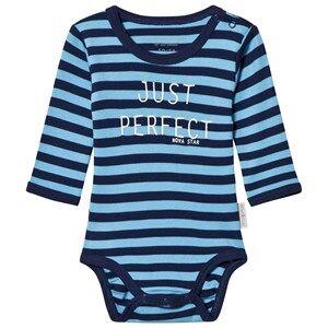 Nova Star Striped Baby Body Marine 74/80 cm