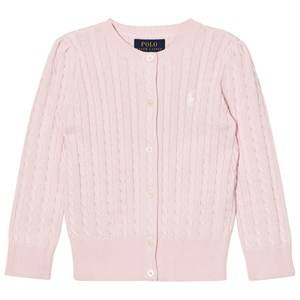 Image of Ralph Lauren Pink Mini Cable Long Sleeve Cardigan M (8-10 years)
