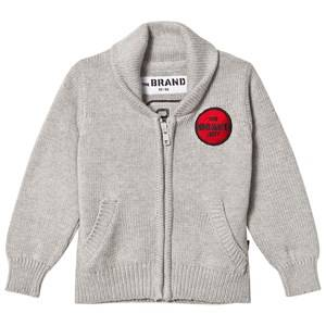 The BRAND Retro Knit Cardigan Grey Melange 116/122 cm