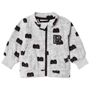 The BRAND B-Moji Fleece Sweater Grey Melange 68/74 cm