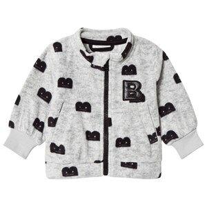 The BRAND B-Moji Fleece Sweater Grey Melange 116/122 cm