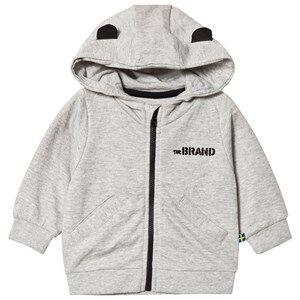 The BRAND Baby Face Hoodie Grey Melange B-Moji 68/74 cm