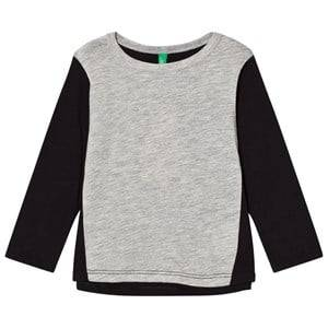 United Colors of Benetton Colour Block L/S T-Shirt With Tullebackpack Detail Black 1Y (12-18 months)