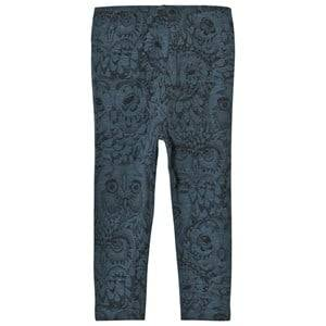 Image of Soft Gallery Paula Baby Leggings Orion Blue Owl 6 Months
