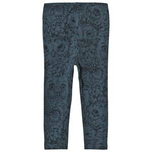 Image of Soft Gallery Paula Baby Leggings Orion Blue Owl 12 months