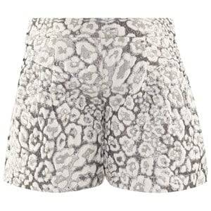 Miss Grant Lurex Leopard Print Shorts Off White/Silver 122-128 (8 Years) 34