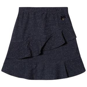 Le Chic Navy Glitter Frill Skirt 152 (11-12 years)