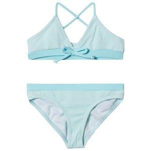 Melissa Odabash Blue with Aqua Trim Sky Triangle Bikini 8 years