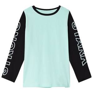 The BRAND Strong Tee Black/Turquoise 140/146 cm