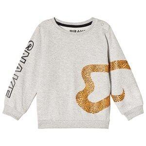 The BRAND Snake Sweatshirt Grey Melange 92/98 cm