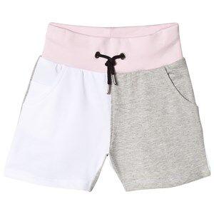 The BRAND Jonta Shorts White/Grey Mel/Powder Pink 80/86 cm
